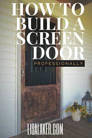 diy wood screen door