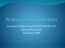 Iv Compatibility Chart Pdf Iv Drug Incompatibilities