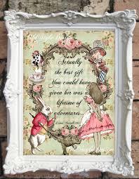 Alice In Wonderland Decoration Alice In Wonderland Print Alice In Wonderland Decor Vintage