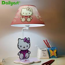 pink table lamp o kitty children for bedroom study room kindergarten home decor cartoon
