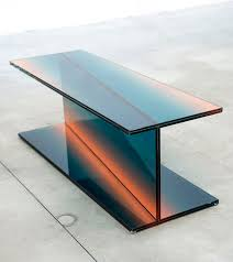 glass form furniture. beautiful form latvianborn amsterdambased designer germans ermicsu0027s project entitled  shaping colour explores glass furniture with layers of gradient color on glass form furniture a
