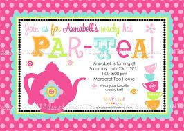 Tea Party Birthday Invitations Websolutionvilla Com