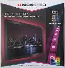 Rgb Lights Walmart Monster Basics Color Changing Usb Led Light Strip 6 5 Feet