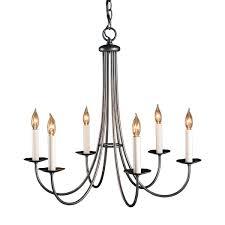 detail simple sweep 6 arm chandelier