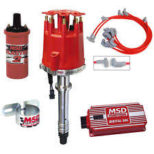 msd parts accessories msd complete ignition kit chevy sbc digital 6al distributor wires coil bracket
