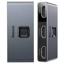 <b>Baseus</b> bidirectional HDMI - 2x <b>HDMI splitter</b> switcher <b>4K</b> / 30 Hz ...