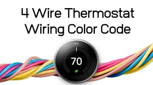 4 wire thermostat wiring color code Hvac Color Wiring Diagram Thermostat Wiring Diagram