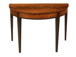 a pair of half round tables finewoodworking intended for table plans 15