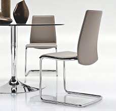 contemporary calligaris swing leather dining chair in contemporary leather dining chairs