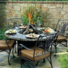 black 11 wrought iron outdoor dining table patio set mesh round