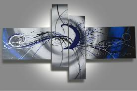 4160 handpainted 4 piece white black modern abstract wall art oil painting on canvas large picture for living room free shipping 48 00 on large 4 piece wall art with 4160 handpainted 4 piece white black modern abstract wall art oil