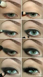 y cat eye makeup green eyes how to