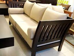 two seater wooden sofa designs design rustic teak wood set b