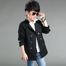 trench coat kid boy long double ted jacket boy fashion casual style jacket boys plain cotton coat 8 year old boy clothes in jackets coats from mother