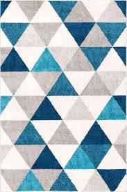 blue geometric rug blue modern geometric rug blue and white geometric area rug