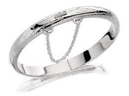 silver hinged baby bangle f2636