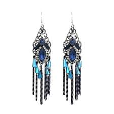 vintage tassel chandelier earrings