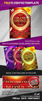 grand opening psd flyer template  grand opening psd flyer template