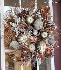Fall Wreath Metallic Fall Wreath Curb Appeal Setting For Four