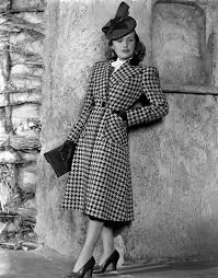 Priscilla Lane Modeling Houndstooth Photograph by Everett