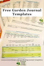 free gardening journal templates including seed sowing schedule plant spacing and seed longevity charts