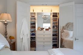 closet with built in dresser