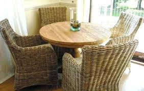 round wicker dining table gorgeous farmhouse kitchen inspiration wicker chair dining chair