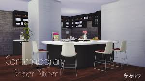 Pyszny Design Sims 4 Contemporary Shaker Kitchen By Pyszny Liquid Sims