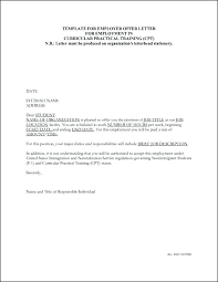 Employment Offer Letter Template California Day Probationary