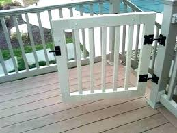 porch gates for dogs deck gates for pets outdoor pet gate dog decks decorating home ideas