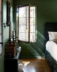 green bedroom walls decorating ideas. a creative couple\u0027s southern california dream home. hunter green bedroomsforest bedroom walls decorating ideas