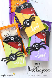 Halloween Gift Cards Diy Halloween Gift Card Tags Eighteen25