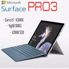 Laptop 2 trong 1 kiêm máy tính bảng Surface Pro 3 Core i5-4300U, 4gb Ram,  128gb SSD, 12inch Full HD cảm ứng