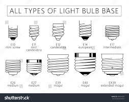 Regular Light Bulb Base All Types Light Bulb Base Technical Stock Vector Royalty