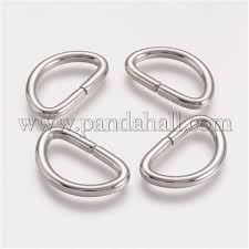 Wholesale <b>304 Stainless Steel D</b> Rings, Buckle Clasps, For ...