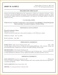 Resumes For Phlebotomist Phlebotomy Resume Example Bitacorita