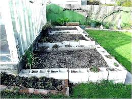 concrete block garden cinder concrete block raised garden bed ideas concrete block garden