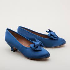 amelie satin pumps royal blue 1880 1920