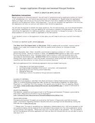 Cover Letter For Principal Position The Letter Sample