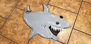 shark door hanger door decor boys room