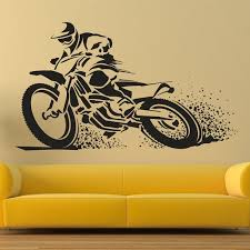 motocross wall decal extreme sports