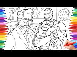 Iron Man Tony Stark Coloring Pages Coloring Avengers Superheroes