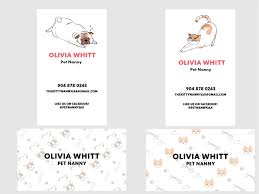 Pet Sitter Business Cards Pet Sitting Business Card Cat Dog By Olivia Whitt Dribbble Dribbble