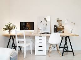 prepossessing two station computer desk with model home security decorating ideas