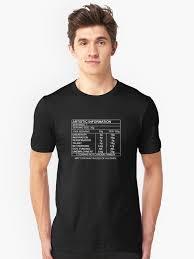 Artistic Information Chart White Print T Shirt By Nofrillsart