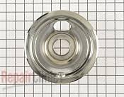 kenmore stove parts. burner drip bowl - part # 770169 mfg wb31t10010 kenmore stove parts