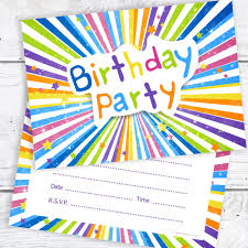 Children Birthday Invitations Childrens Birthday Party Invitations Kids Ready To Write Party Invites A6 Postcard Size With Envelopes Pack Of 10