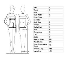 Measurement Chart Body Free Download Sewing Body Measurement Chart For Women