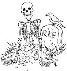 Small Picture Coloring Pages Kids Scary Skeleton Zombie Best Of itgodme