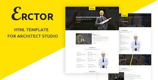 architecture yellow. erctor architecture template for architects business corporate yellow
